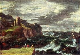 Mulier, Pieter the Younger (known as Tempesta) : St. Paul arriving at Malta