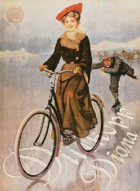 Advertising placard for the ladies' bicycle Diana