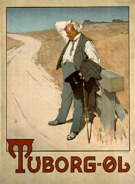 Advertising placard for Tuborg beer, 1900 of Erich