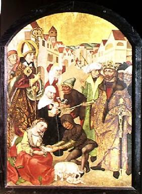 St. Stanislas (1030-79) watching the punishment of unfaithful wives as commanded by King Boleslas II