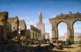 Ruins of the Al-Hakim Mosque in Cairo