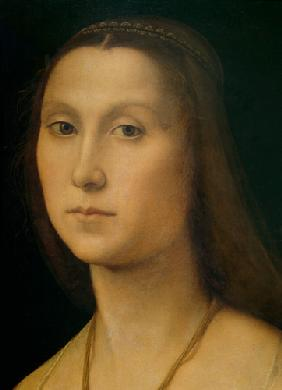 Portrait of a Woman (La Muta), detail