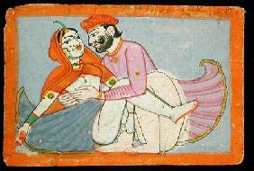 Miniature from the Kama Sutra of Vatsyayana