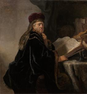 A Scholar Seated at a Desk (Scholar at his Study)