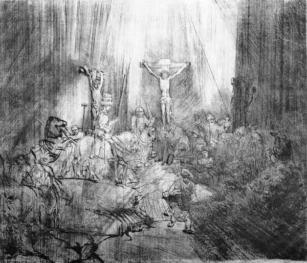 Rembrandt van Rijn : Three Crucifixes