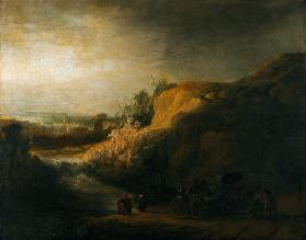 Landscape with the baptism of the Eunuch
