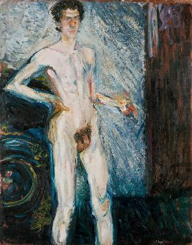 Nude Self-Portrait with Palette