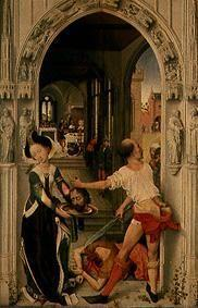 Johannes altar, right panel: The decapitation of t