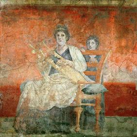 Noblewoman playing a Cithera, from the Boscoreale Villa, Pompeii