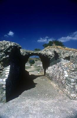 Entrance to the Roman Amphitheatre in the Roman-Etruscan Town (photo)