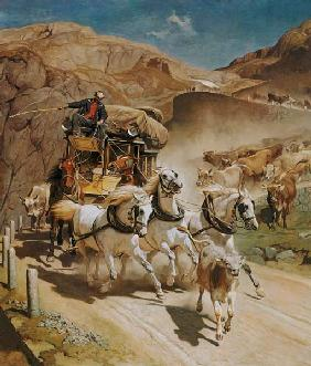 Rudolf Koller - The Gotthard post.