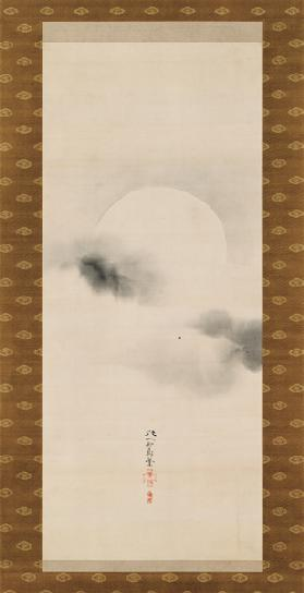 Hanging Scroll Depicting The Autumnal Moon, from A Triptych of the Three Seasons, Japanese, early 19