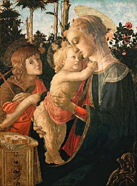 Madonna with the Jesuskind and Johannes. (Detail: