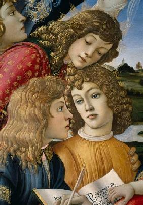 The Madonna of the Magnificat, detail of three boys