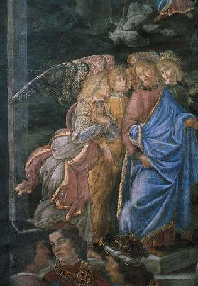 The Purification of the Leper and the Temptation of Christ, from the Sistine Chapel: detail of Chris