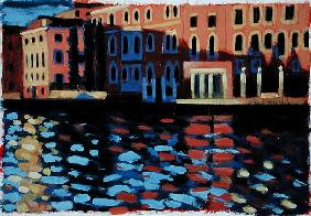 Winter Morning, Grand Canal (oil on card)