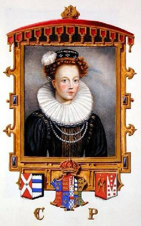 Portrait of Catherine Parr (1512-1548) Sixth Wife of Henry VIII as a Young Widow from 'Memoirs of th