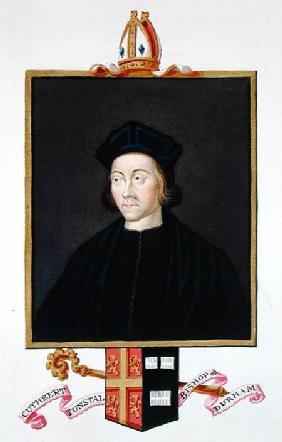 Portrait of Cuthbert Tunstall (1474-1559) Bishop of Durham from 'Memoirs of the Court of Queen Eliza