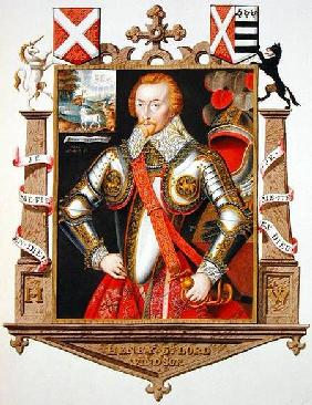 Portrait of Henry, 5th Lord Windsor (1562-1615) from 'Memoirs of the Court of Queen Elizabeth'