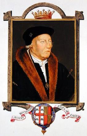 Portrait of Henry Bourchier (d.1539) 2nd Earl of Essex from 'Memoirs of the Court of Queen Elizabeth