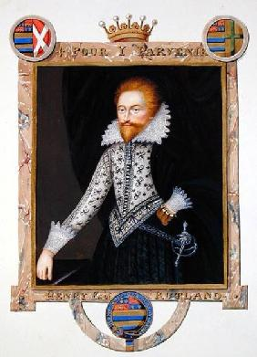 Portrait of Henry Manners (d.1563) 2nd Earl of Rutland from 'Memoirs of the Court of Queen Elizabeth