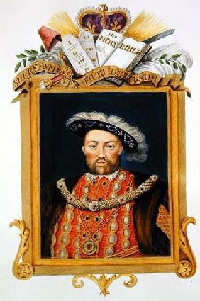 Portrait of Henry VIII (1491-1547) as Defender of the Faith from 'Memoirs of the Court of Queen Eliz