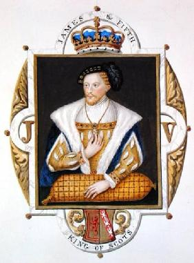 Portrait of James V (1512-42) King of Scotland from 'Memoirs of the Court of Queen Elizabeth'