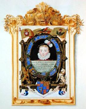 Portrait of James VI of Scotland (1566-1625) Later James I of England as a boy c.1574 from 'Memoirs