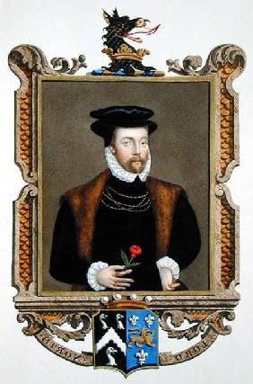 Portrait of Lord Roger North (1530-1600) 2nd Baron North from 'Memoirs of the Court of Queen Elizabe