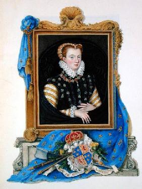 Portrait of Mary Queen of Scots (1542-87) from 'Memoirs of the Court of Queen Elizabeth'
