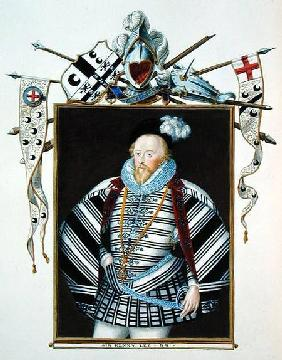 Portrait of Sir Henry Lee (1530-1610) from 'Memoirs of the Court of Queen Elizabeth'