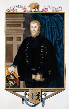 Portrait of Sir Henry Sidney (1529-86) from 'Memoirs of the Court of Queen Elizabeth'