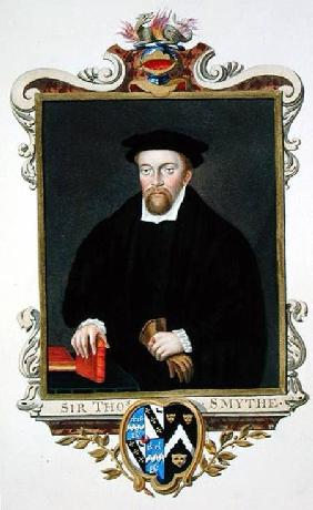 Portrait of Sir Thomas Smythe (c.1558-1625) from 'Memoirs of the Court of Queen Elizabeth'