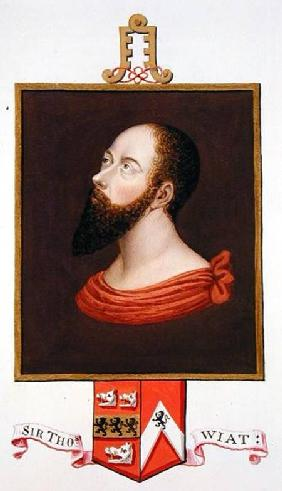 Portrait of Sir Thomas Wyatt the Elder (c.1503-d.1542) from 'Memoirs of the Court of Queen Elizabeth