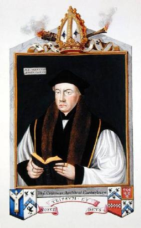 Portrait of Thomas Cranmer (1489-1556) Archbishop of Canterbury from 'Memoirs of the Court of Queen