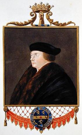 Portrait of Thomas Cromwell (c.1485-1540) Ist Earl of Essex from 'Memoirs of the Court of Queen Eliz