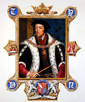 Portrait of Thomas Howard (1473-1554) 3th Duke of Norfolk from 'Memoirs of the Court of Queen Elizab