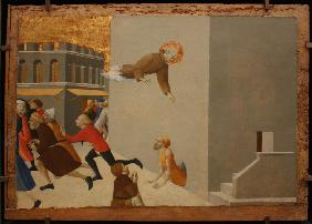 The blessed Ranieri frees the poors from a Florentine jail (From Borgo del Santo Sepolcro Altarpiece