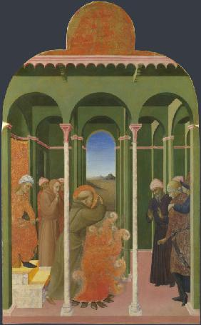 Saint Francis before the Sultan (From Borgo del Santo Sepolcro Altarpiece)