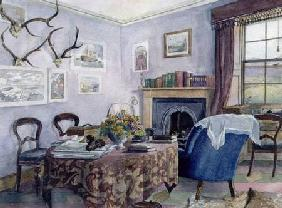 Drawing Room Interior in a Country House in Scotland