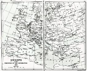 Europe in 1519, at the start of the Reformation, pub. John Bartholomew and Co., Edinburgh