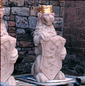 Heraldic lion, from the roof of the Great Hall