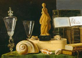 Still Life with a Statuette and Shells