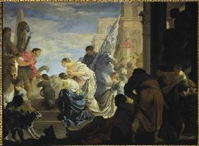 The meeting of Antonius and Cleopatra