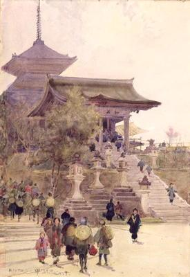 The Entrance to the Temple of Kiyomizu-Dera, Kyoto, with Pilgrims ascending