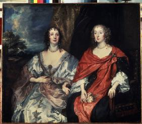 Portrait of Anne Dalkeith, Countess of Morton and Anne Kirke, Ladies-in-Waiting to Queen Henrietta M