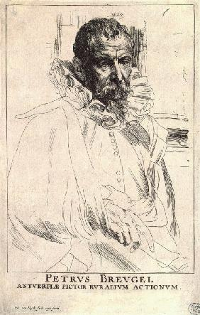 Portrait of the artist Pieter Bruegel the Younger (1564-1636)
