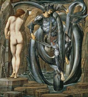 The Doom Fulfilled (Perseus Slaying the Sea Serpent) c.1876 (gouache on paper)