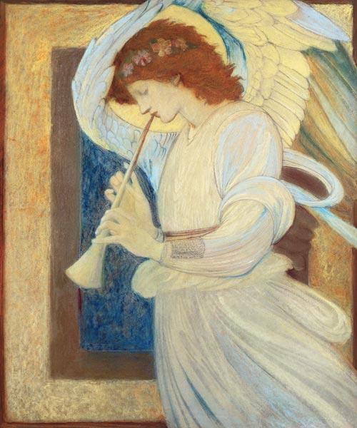 An Angel Playing a Flageolet