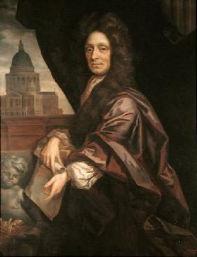 Sir Christopher Wren (1632-1723) copied by Edmund Dyer